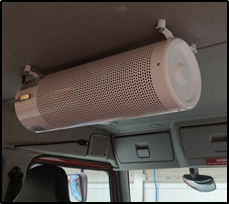 eCleanCab by Emergency One. Air filtration system.
