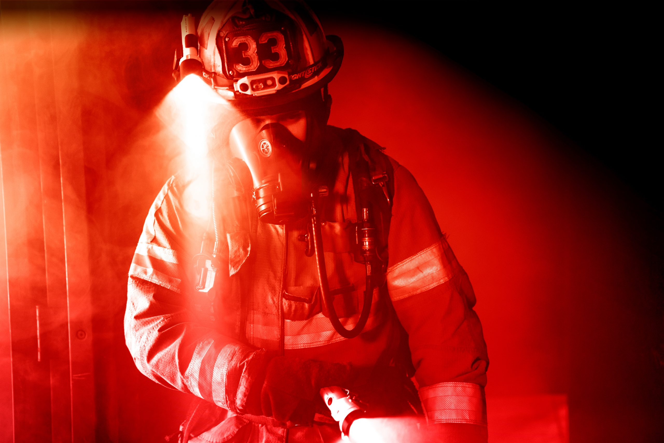 Firefighting equipment, nightstick light, supplied by Emergency One