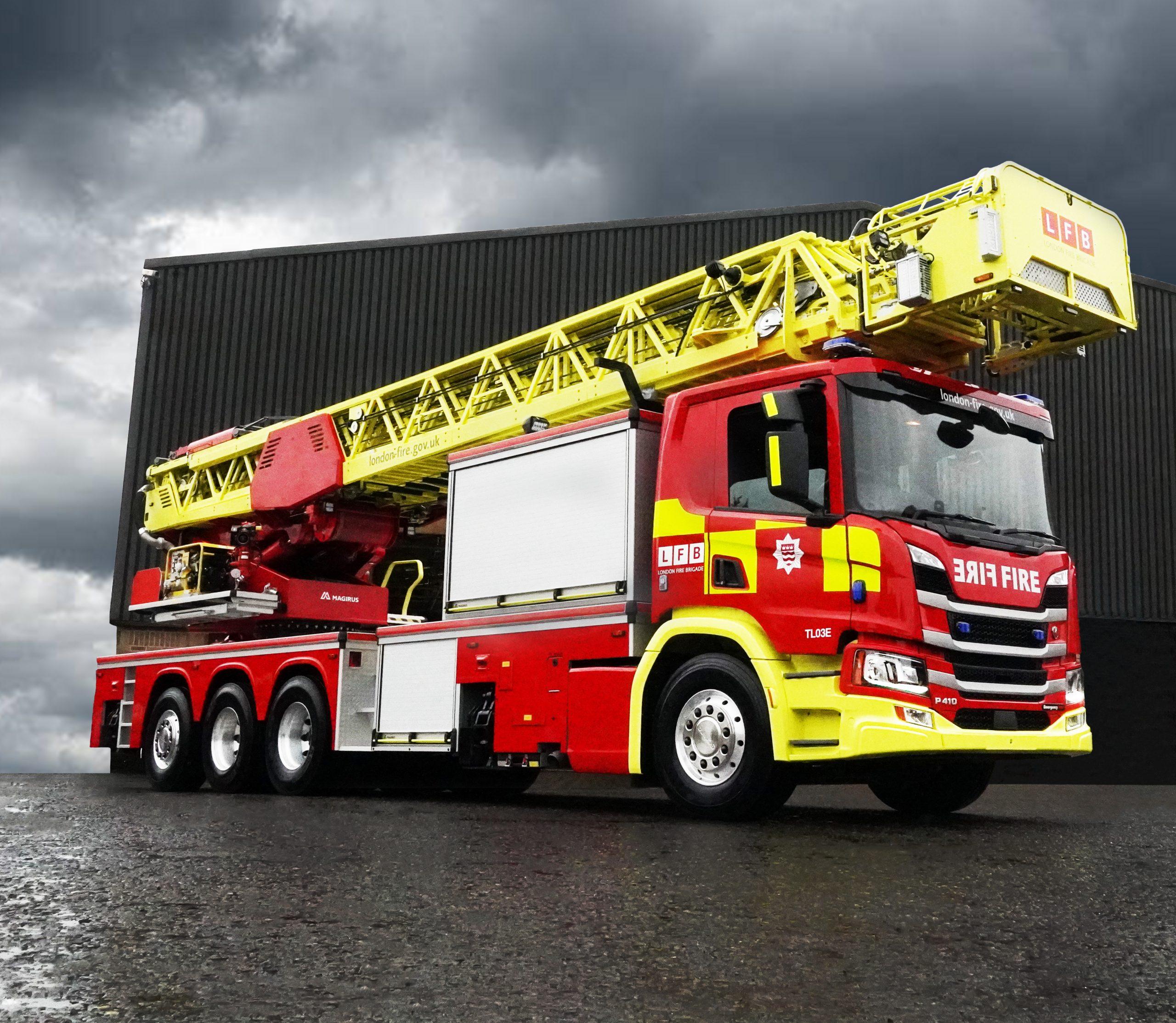 Emergency One Fire Engine, Magirus TTL, 64m, LFB, manufacturer